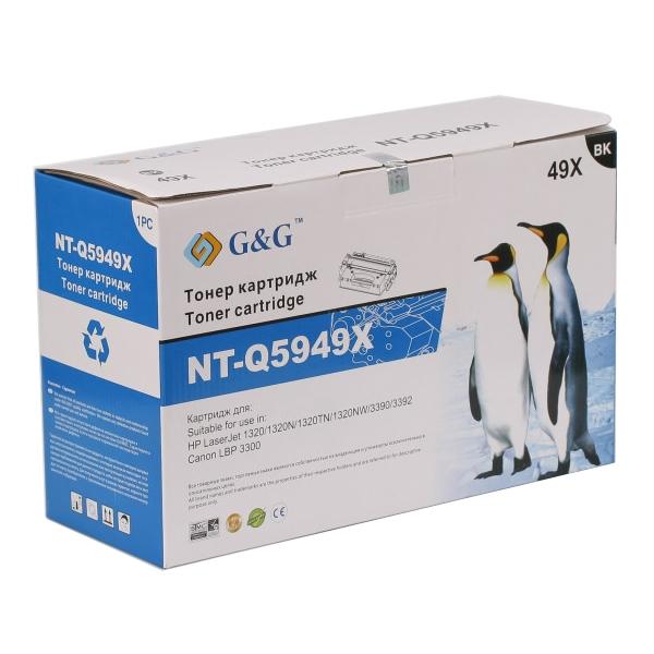 Картридж G&G NT-Q5949X for HP LaserJet 1160/1320/3390/3392/Canon LBP-3300/3360