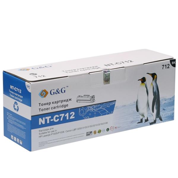 Аксессуар G&G NT-C712 for HP Laserjet P1005/P1006/Canon LBP-3050/3100/3150/3010/3018/3108