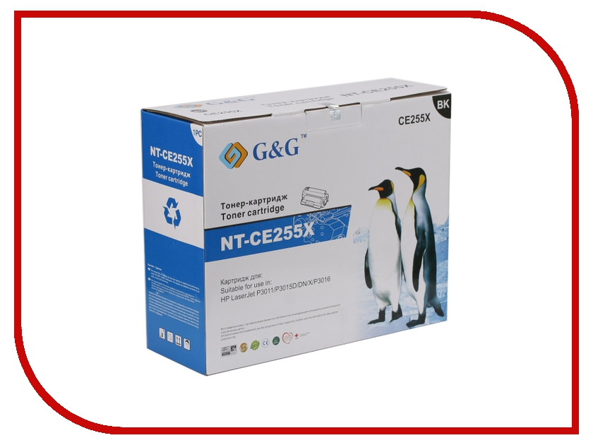 Картридж G&amp;G NT-CE255X for HP LaserJet P3011/P3015/P3016<br>