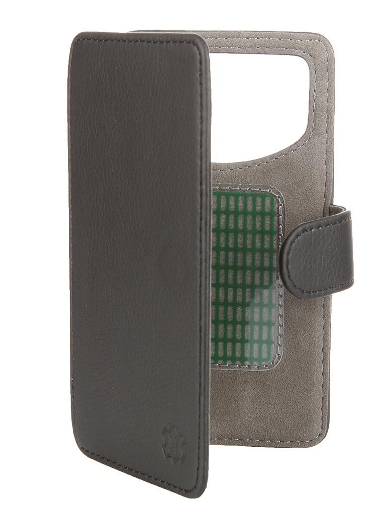 Аксессуар Чехол-книжка Norton 4.3-4.5-inch универсальный, на клейкой основе Black