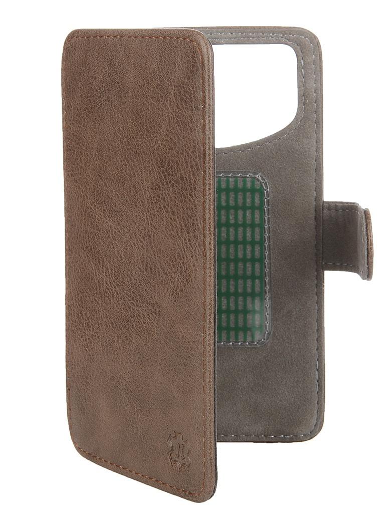 Аксессуар Чехол-книжка Norton 4.6-5-inch универсальный, на клейкой основе Brown