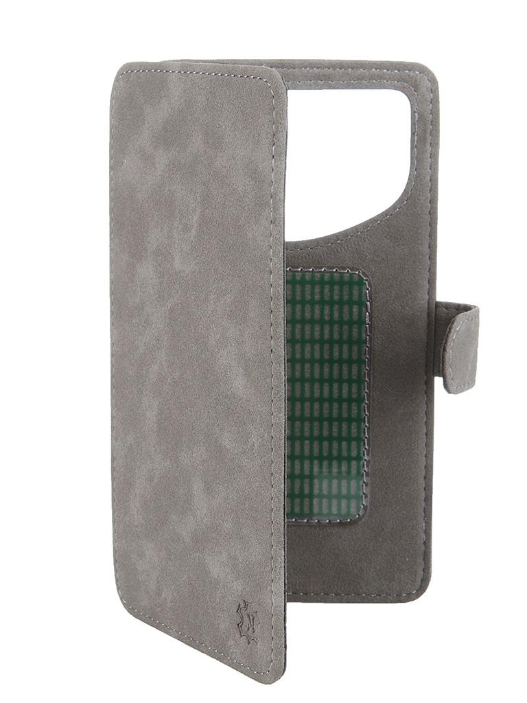Аксессуар Чехол-книжка Norton 5.5-6-inch универсальный, на клейкой основе Grey Замша