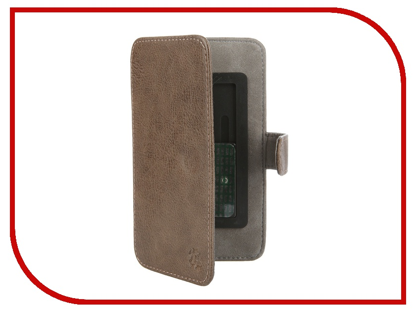 Аксессуар Чехол-книжка Norton 4.3-4.7-inch универсальный, на клейкой основе, с выдвижным механизмом Brown