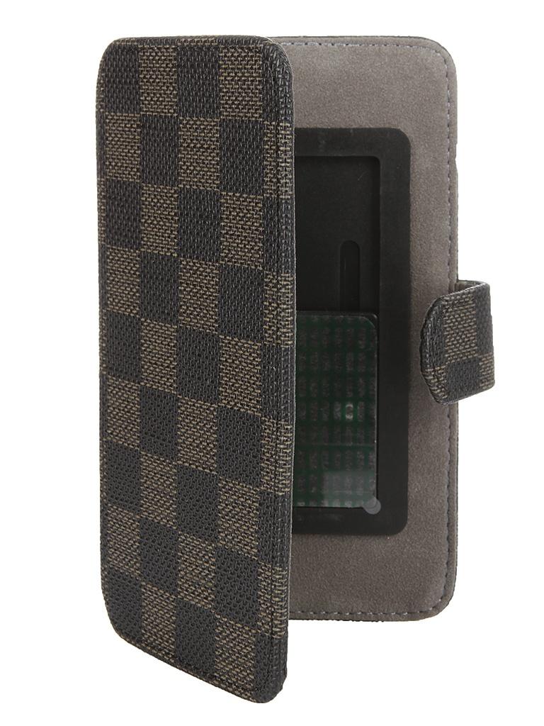 Аксессуар Чехол-книжка Norton 4.3-4.7-inch универсальный, на клейкой основе, с выдвижным механизмом Black-Brown