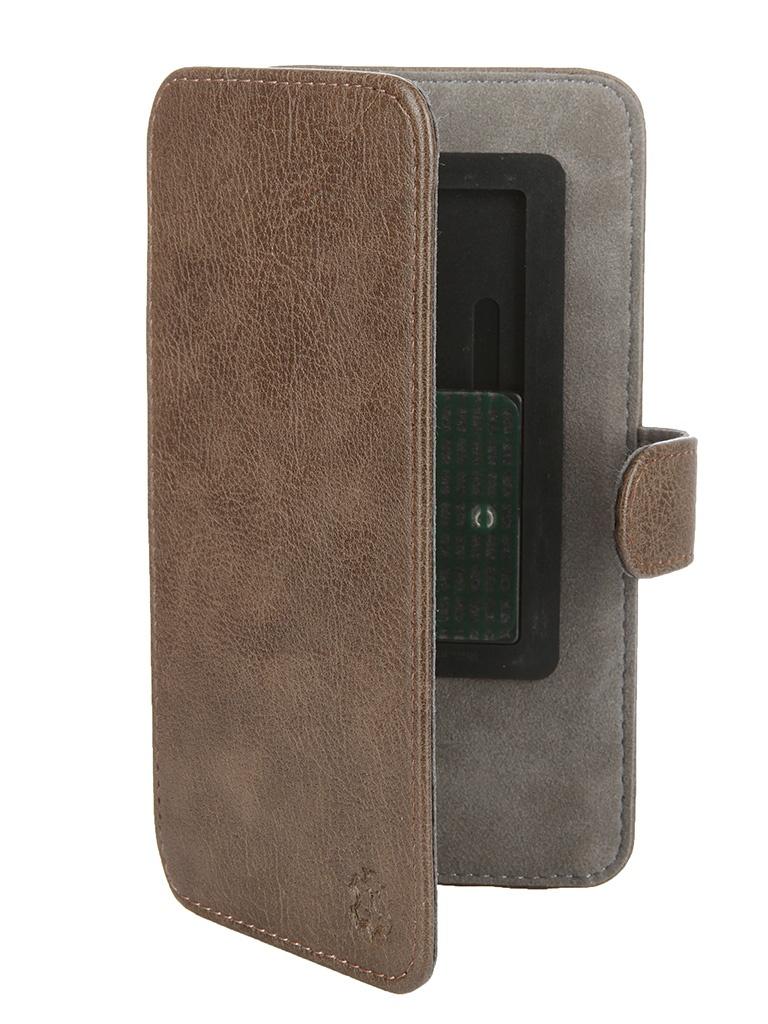 Аксессуар Чехол-книжка Norton 5.2-5.5-inch универсальный, на клейкой основе, с выдвижным механизмом Brown