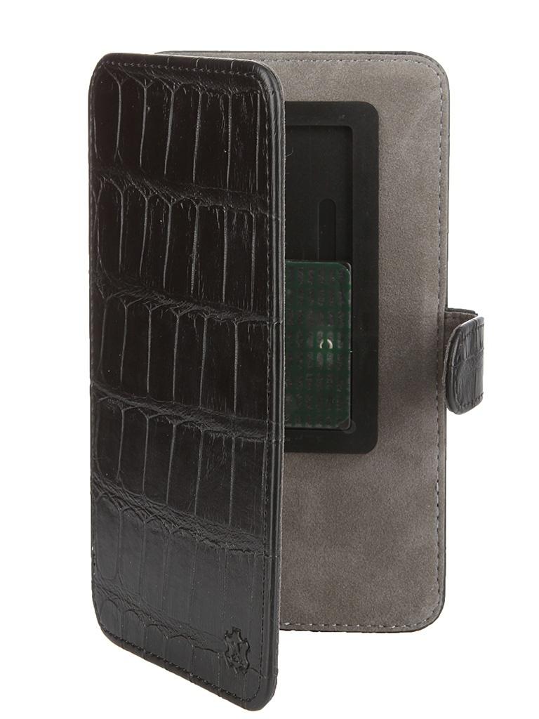 Аксессуар Чехол-книжка Norton 5.5-6-inch универсальный, на клейкой основе, с выдвижным механизмом Black Reptile