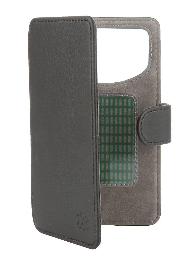 Аксессуар Чехол-книжка Time 4.3-4.5-inch универсальный, на клейкой основе Black