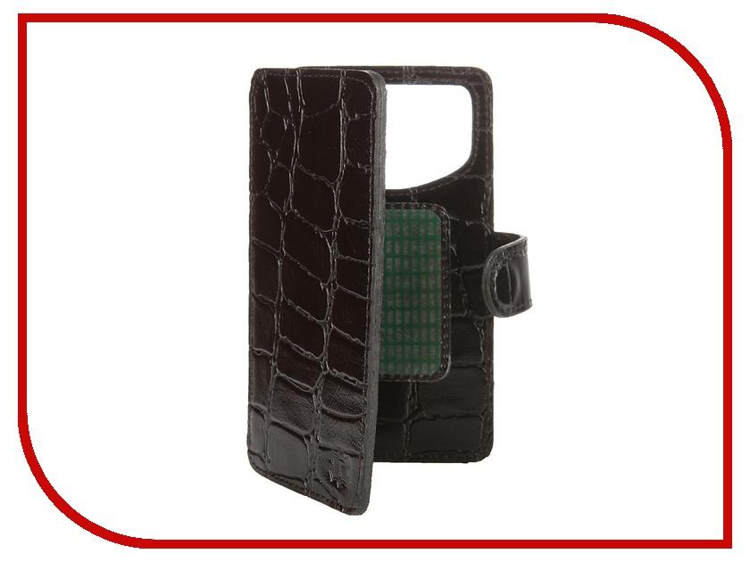 Аксессуар Чехол-книжка Time 4.3-4.5-inch универсальный, на клейкой основе Black Crocodile аксессуар чехол книжка time 4 3 4 5 inch универсальный на клейкой основе black crocodile