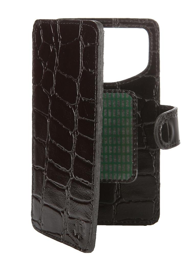 Аксессуар Чехол-книжка Time 4.3-4.5-inch универсальный, на клейкой основе Black Crocodile