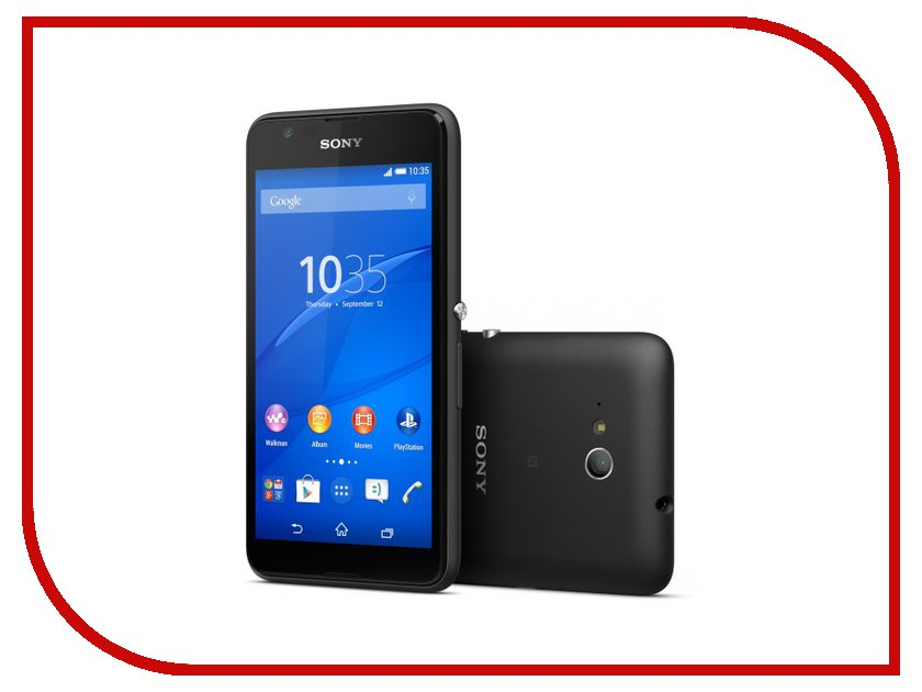 Сотовые / мобильные телефоны, смартфоны Xperia E4g  Сотовый телефон Sony E2003 Xperia E4g Black