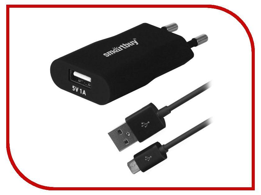 Зарядное устройство SmartBuy Satellite Combo USB + MicroUSB 1А Black SBP-2450