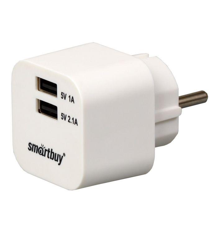 Зарядное устройство SmartBuy Volt 2xUSB 3.1A SBP-2100 White<br>