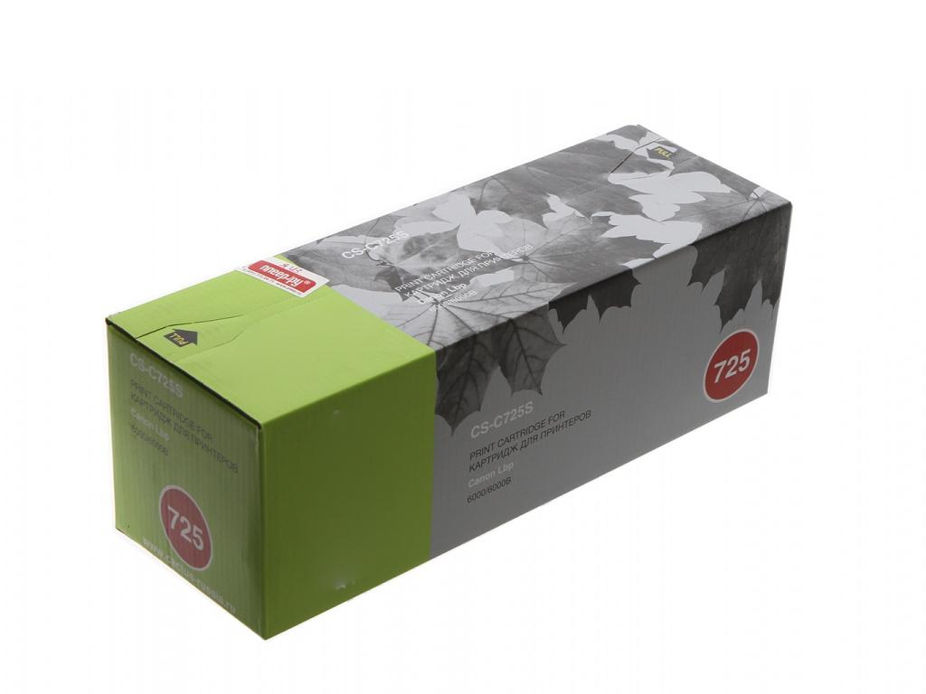 Картридж Cactus CS-C725S для Canon LBP 6000 i-Sensys/6000b i-Sensys/MF3010/LBP6030w Black