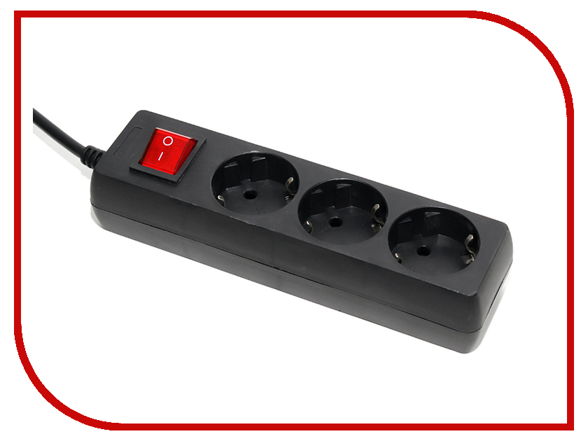 Сетевой фильтр 5bites 3 Sockets 1.8m Black SP3-B-18E сетевой фильтр exegate sp 6 1 8g 6 sockets 1 8m grey 119388