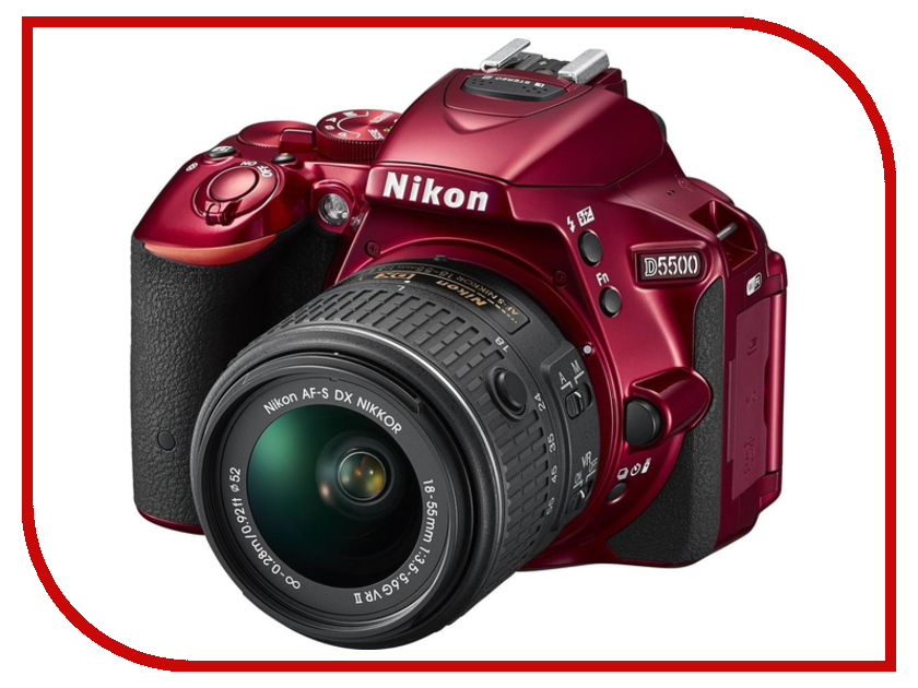 Фотоаппарат Nikon D5500 Kit AF-S DX 18-55 mm f/3.5-5.6G VR II Red