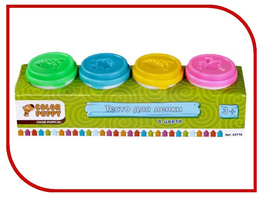 Набор для лепки Color Puppy 4 цвета 224г 63776 Тесто для лепки<br>