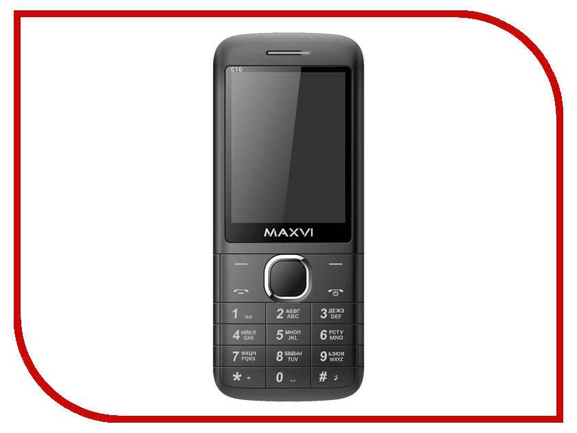 Сотовый телефон Maxvi C10 Black сотовый телефон maxvi p11 gold