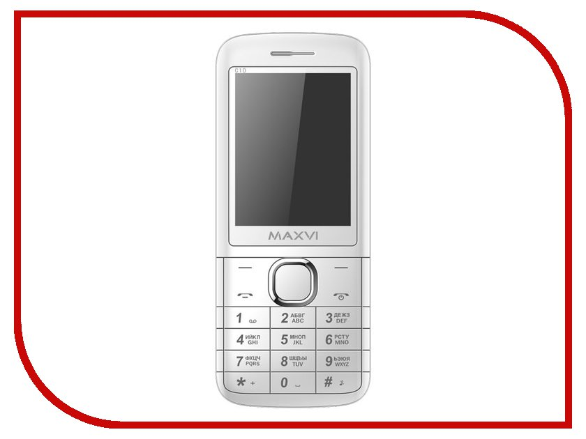 Сотовый телефон Maxvi C10 White сотовый