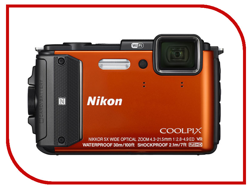 Фотоаппарат Nikon AW130 Coolpix Orange