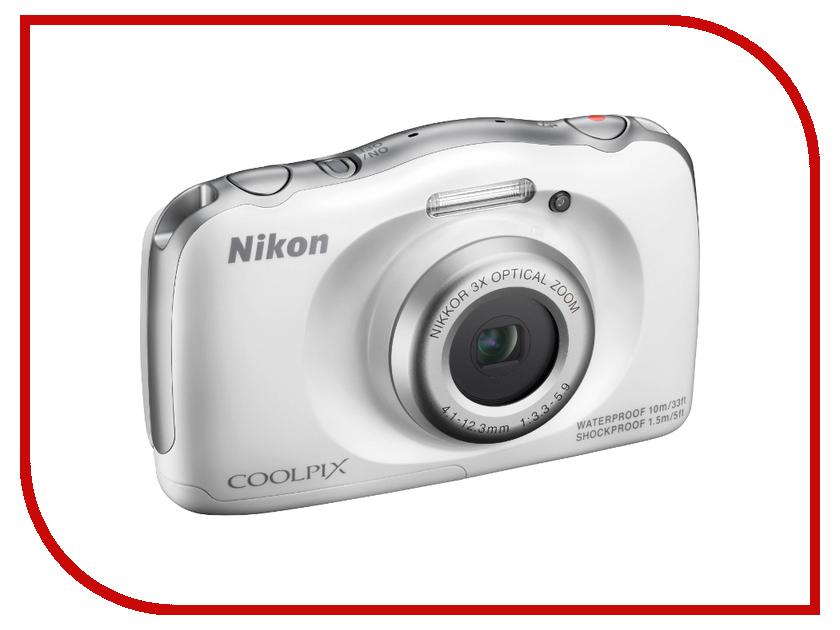 Фотоаппарат Nikon S33 Coolpix White<br>