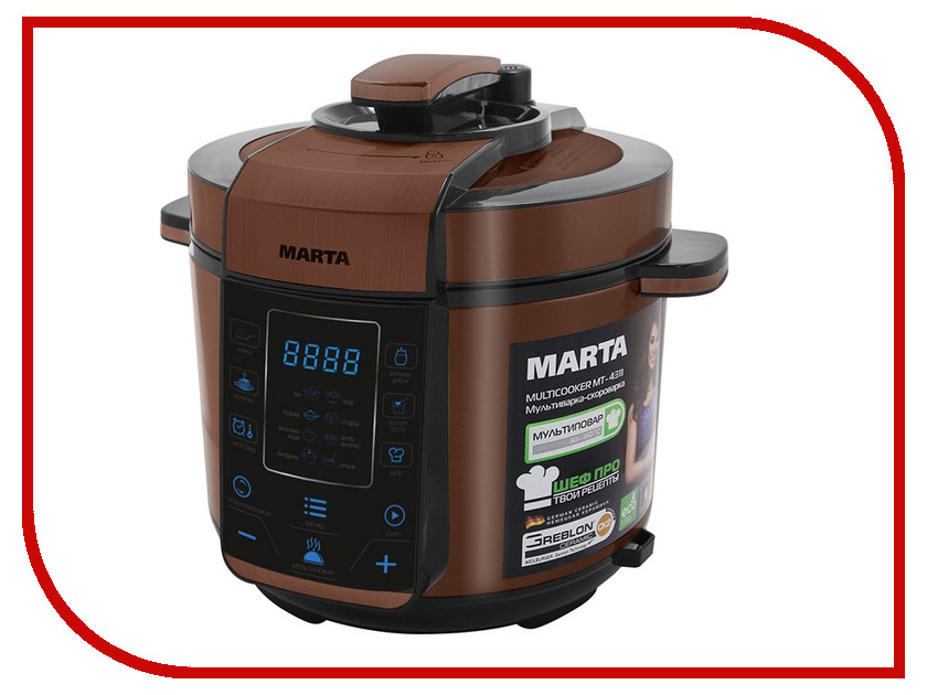 Мультиварка Marta MT-4311 Black-Copper