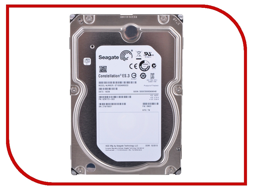 Жесткий диск 1Tb - Seagate Constellation ES.3 ST1000NM0033<br>