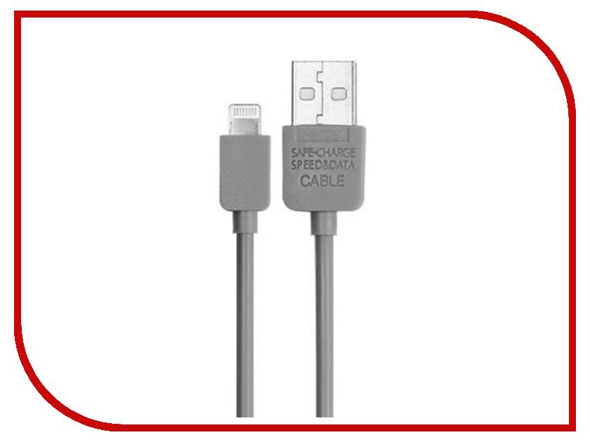 Аксессуар Metal USB для iPhone 5/6 50008 Grey<br>