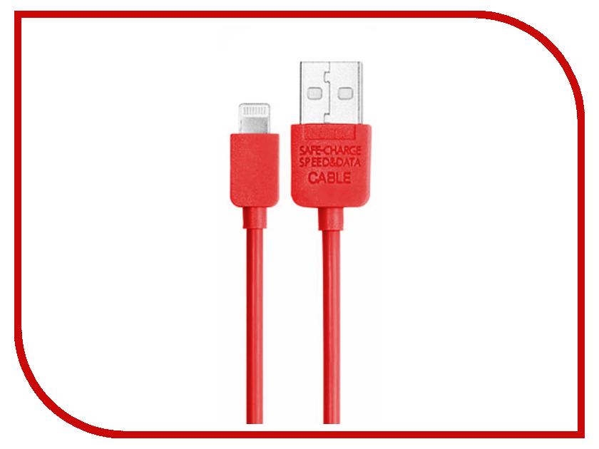 Аксессуар Metal USB для iPhone 5/6 50011 Red<br>