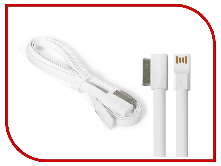 Аксессуар DF 30pin - USB DF iCABLE-01 White
