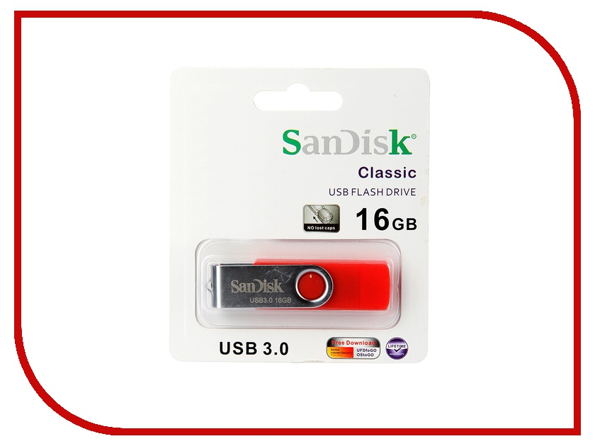 USB Flash Drive 16Gb - Smart Toys / Sandisk Red