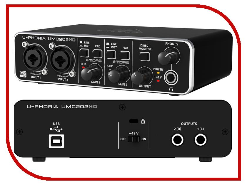 Аудиоинтерфейс Behringer U-PHORIA UMC202HD behringer x32