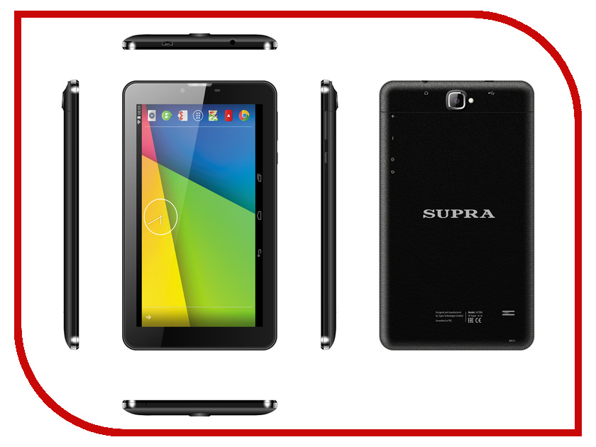 Планшет SUPRA M728G MT8312 1.3 GHz/1024Mb/4Gb/3G/GPS/Wi-Fi/Bluetooth/7.0/1024x600/Android<br>