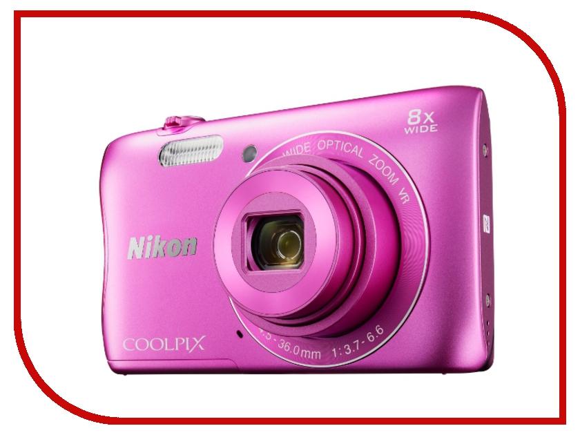 Фотоаппарат Nikon Coolpix S3700 Pink<br>