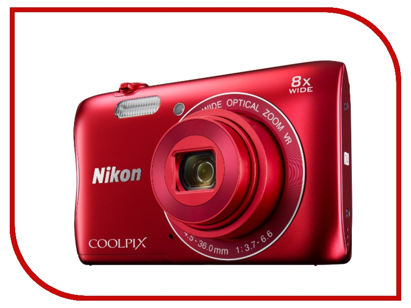 Фотоаппарат Nikon Coolpix S3700 Red<br>