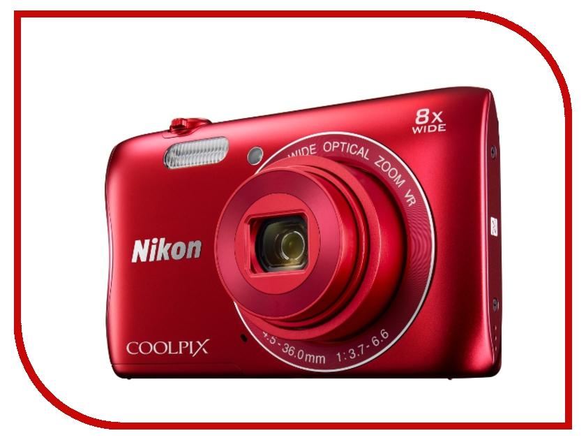 Фотоаппарат Nikon Coolpix S3700 Red