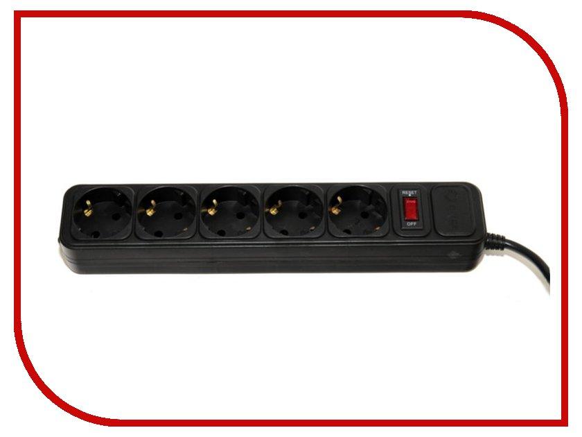 Сетевой фильтр 5bites 5 Sockets 1.5m Black SP5-B-15
