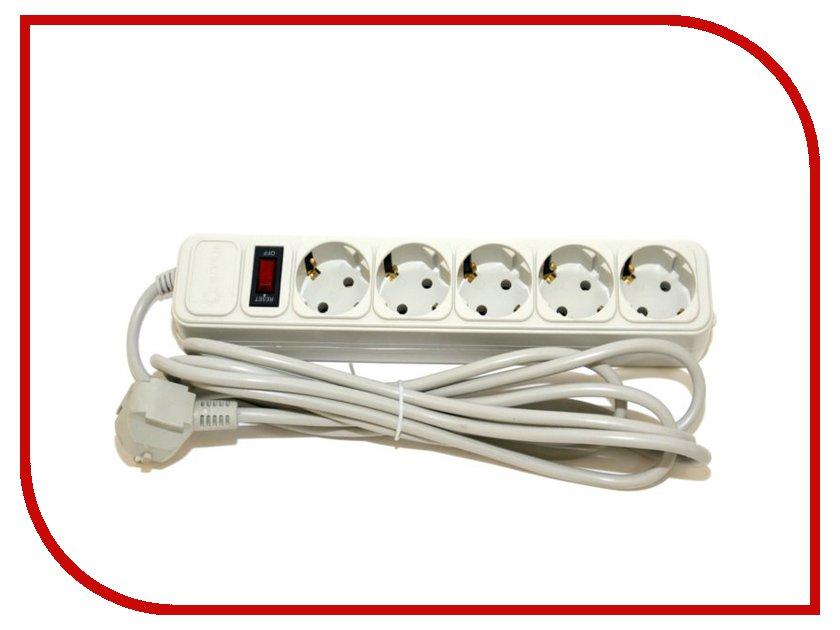 Сетевой фильтр 5bites 5 Sockets 1.8m White SP5-W-18