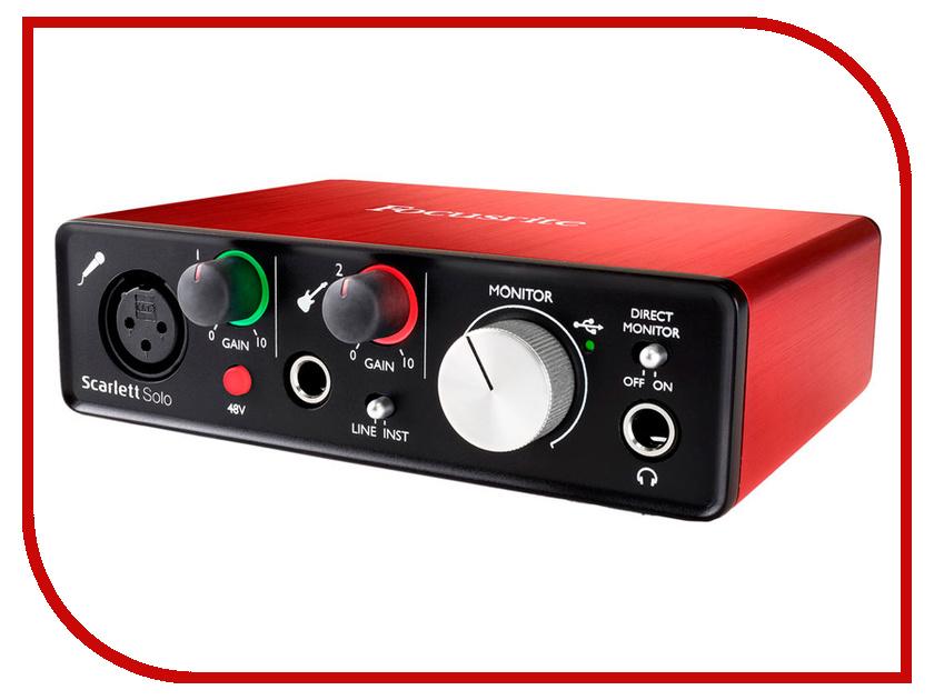 Аудиоинтерфейс Focusrite Scarlett Solo USB 2nd Gen focusrite itrack pocket