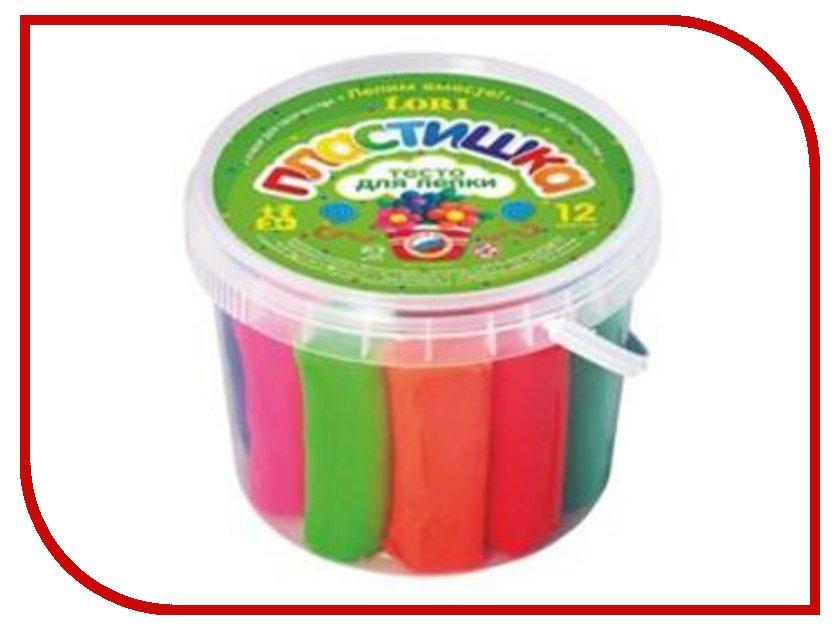 Набор для лепки Lori Пластишка Тесто для лепки 12 цветов 370g Тдл-003 пластишка горка для купания детей пластишка
