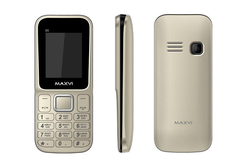 Сотовый телефон Maxvi C5 Gold<br>