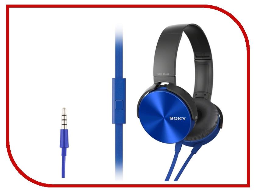 Гарнитура Sony MDR-XB450APL Blue<br>