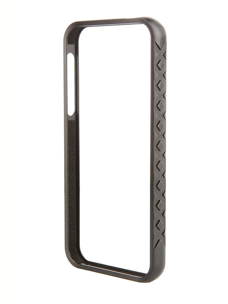 Аксессуар Чехол-бампер DF iArmor-05 для iPhone 5 / 5S Black