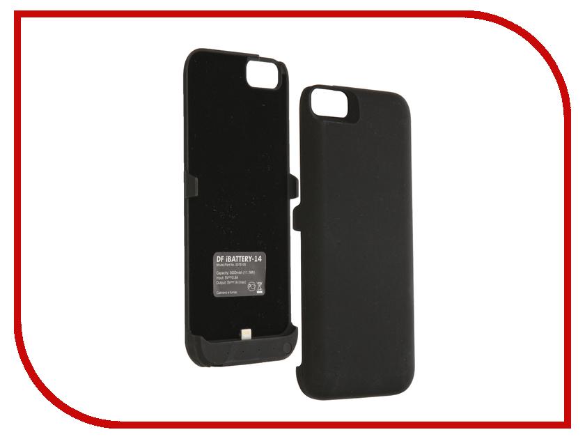 Фото Аксессуар Чехол-аккумулятор DF для iPhone 6 / 6S / 7 iBattery-14s Black чехол аккумулятор df ibattery 14s для iphone 6 6s 7 розовое золото