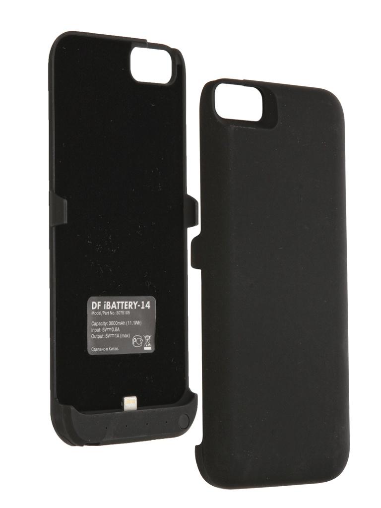 Аксессуар Чехол-аккумулятор DF iBattery-14 для iPhone 6 Black<br>