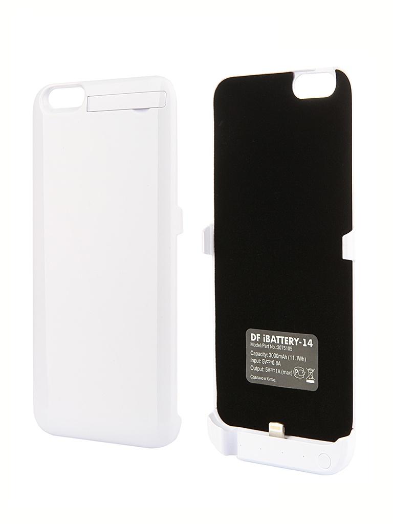Аксессуар Чехол-аккумулятор DF iBattery-14 для iPhone 6 White