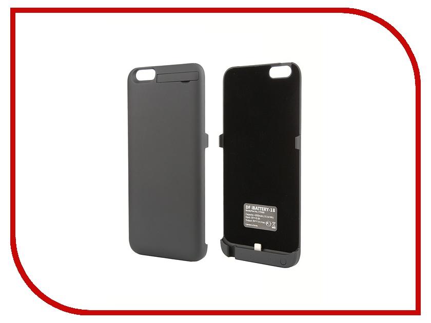 Аксессуар Чехол-аккумулятор DF для iPhone 6 Plus iBattery-18 Black<br>