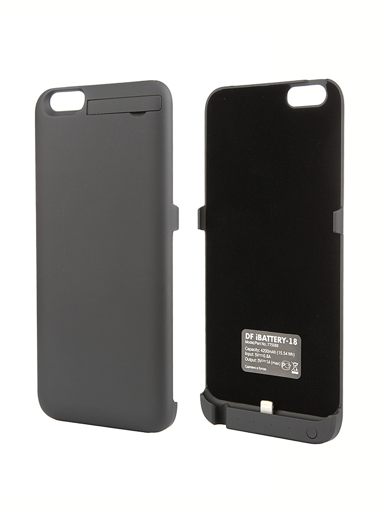 Аксессуар Чехол-аккумулятор DF iBattery-18 для iPhone 6 Plus Black
