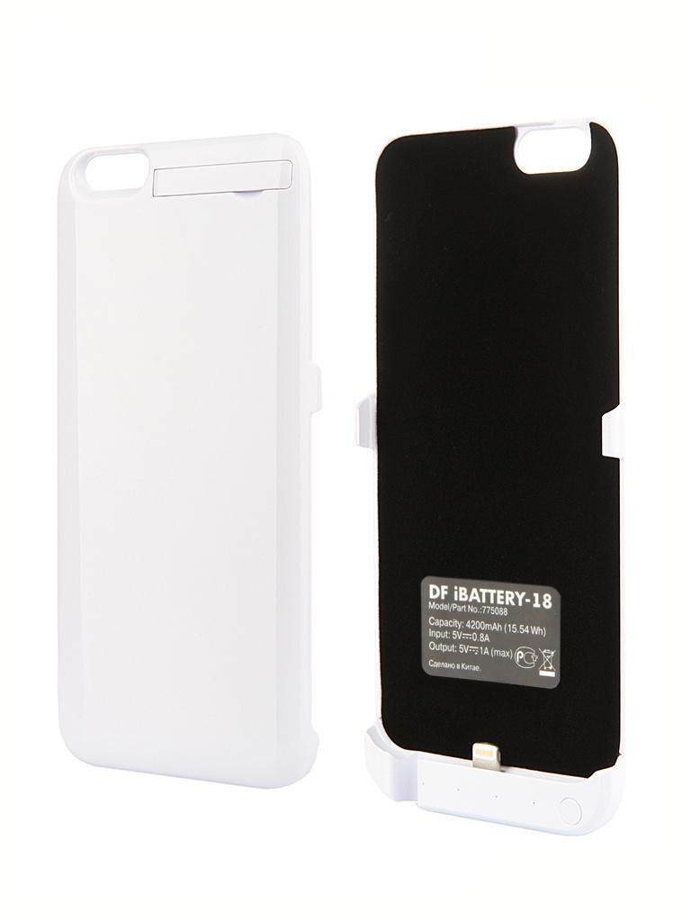 Аксессуар Чехол-аккумулятор DF iBattery-18 для iPhone 6 Plus White