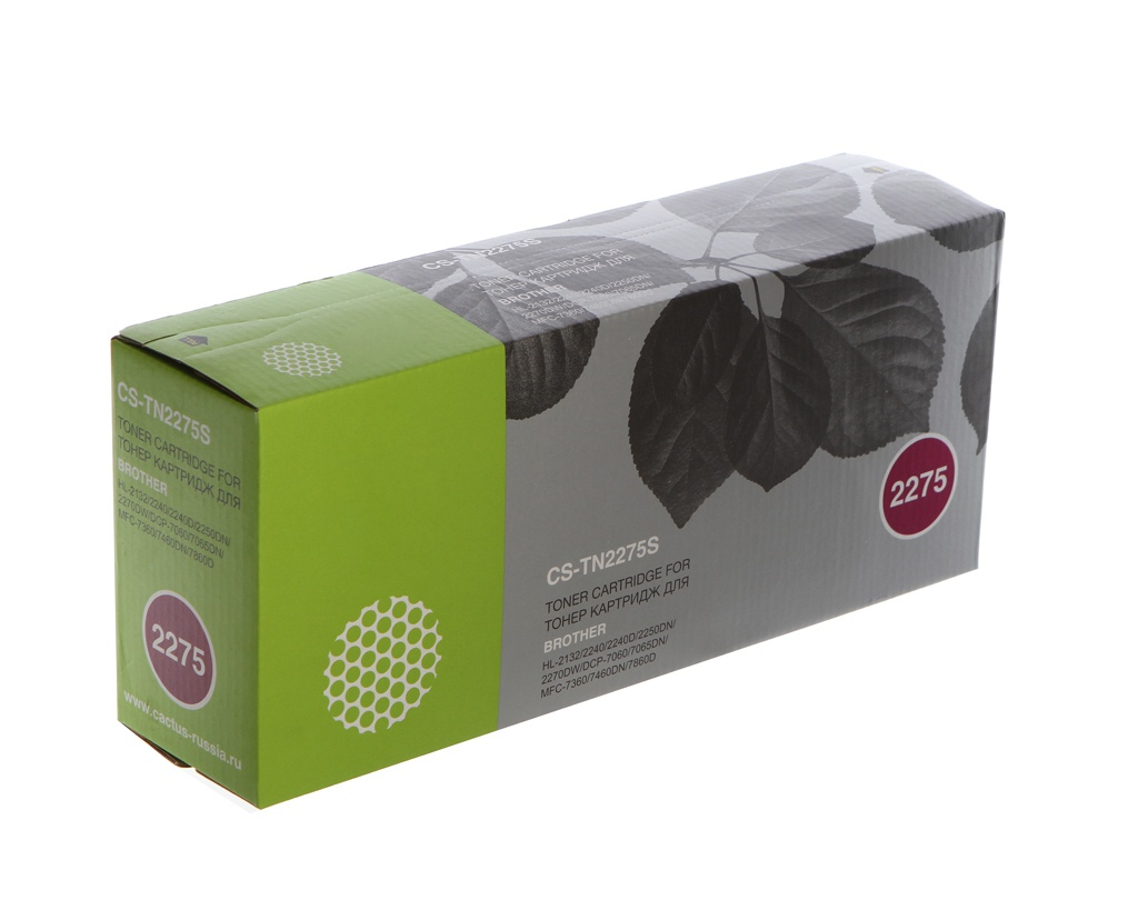 купить Картридж Cactus CS-TN2275S Black для Brother HL 2240/2240R/2250/2250DN/2250DNR дешево