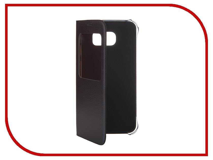 Аксессуар Чехол Samsung SM-G920 Galaxy S6 S-View Black EF-CG920PBEGRU аксессуар чехол флип samsung galaxy s6 sm g920 brera slim blue 47543